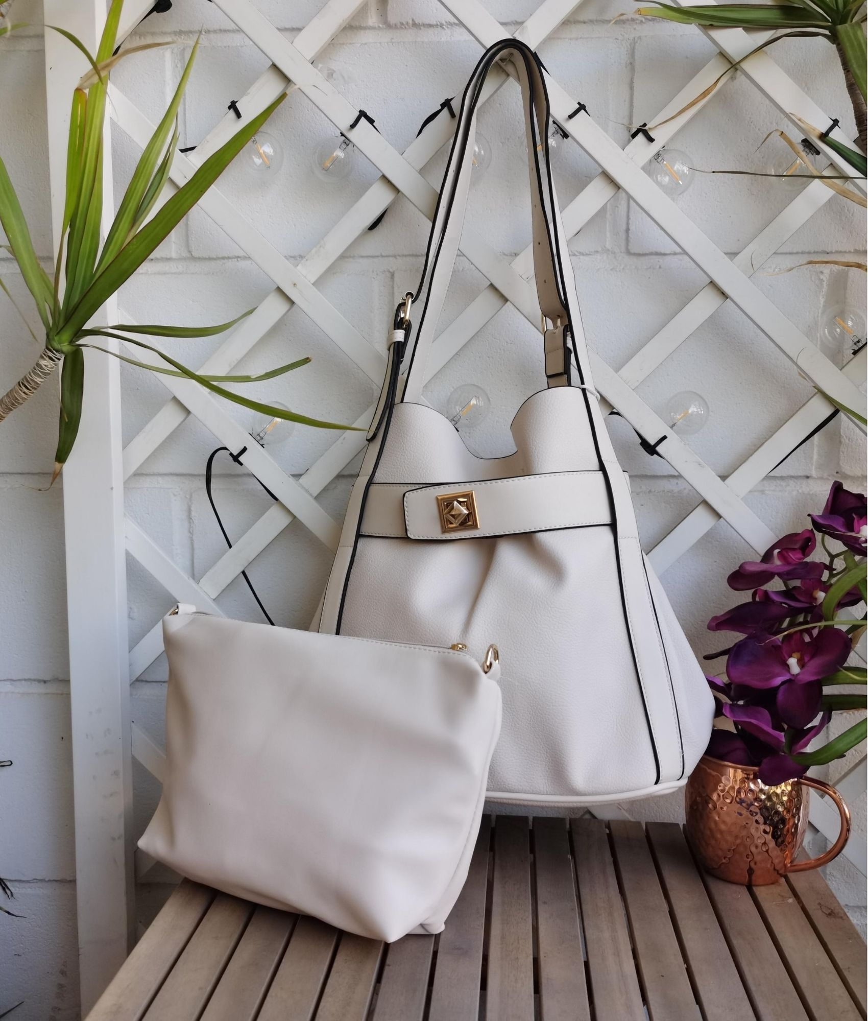 Bolsa Ashley - branco