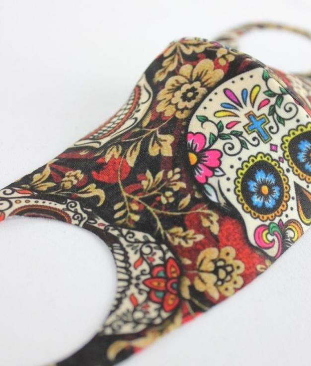 Mascara Punt - Caveira Flor