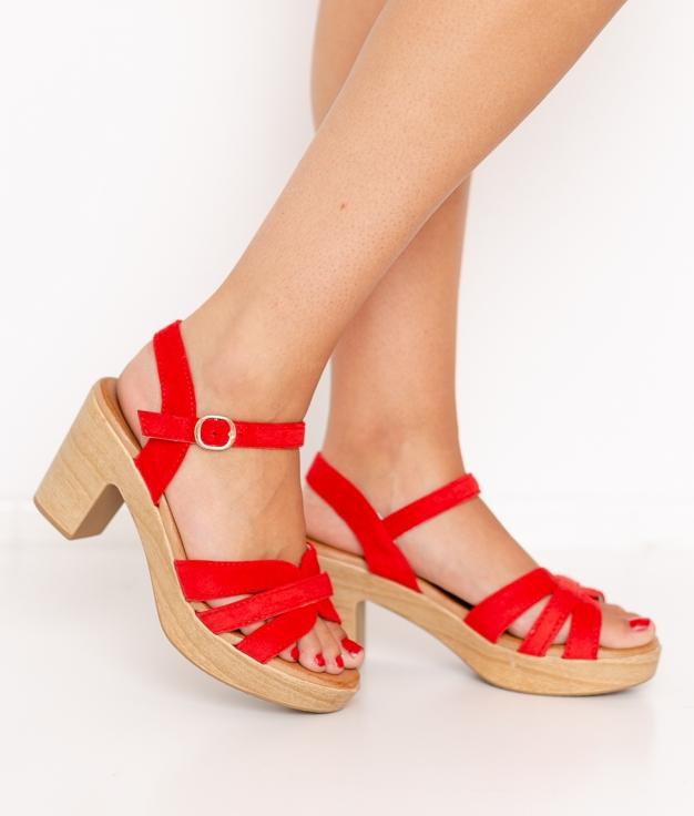 Sandalia de Tacón Polka - Rojo