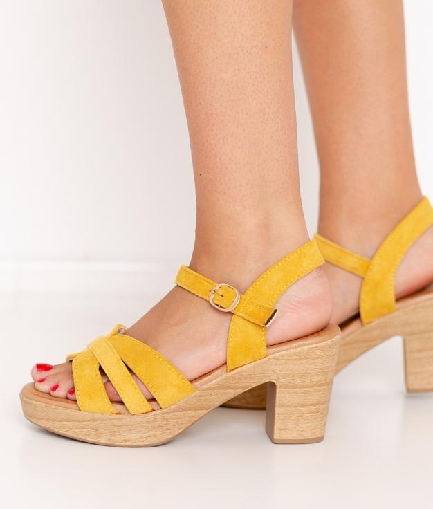 Sandalia de Tacón Polka - Amarillo