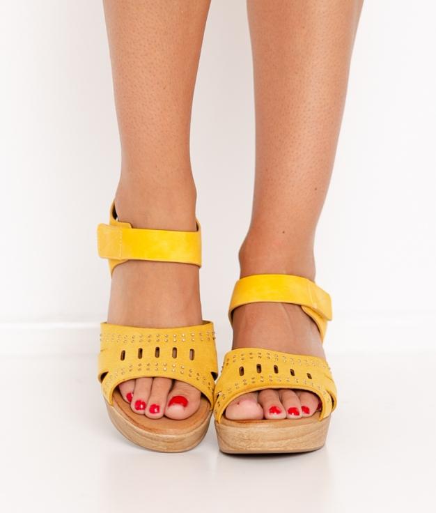 Sandalia de Tacón Sali - Amarillo