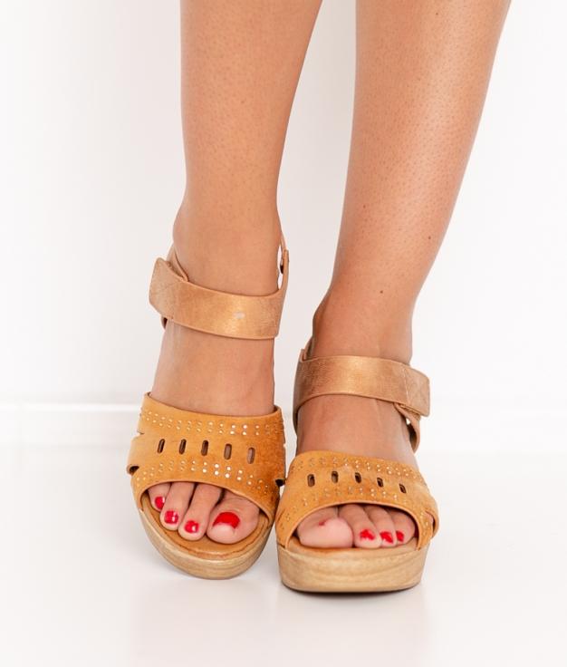 Sandalia de Tacón Sali - Camel