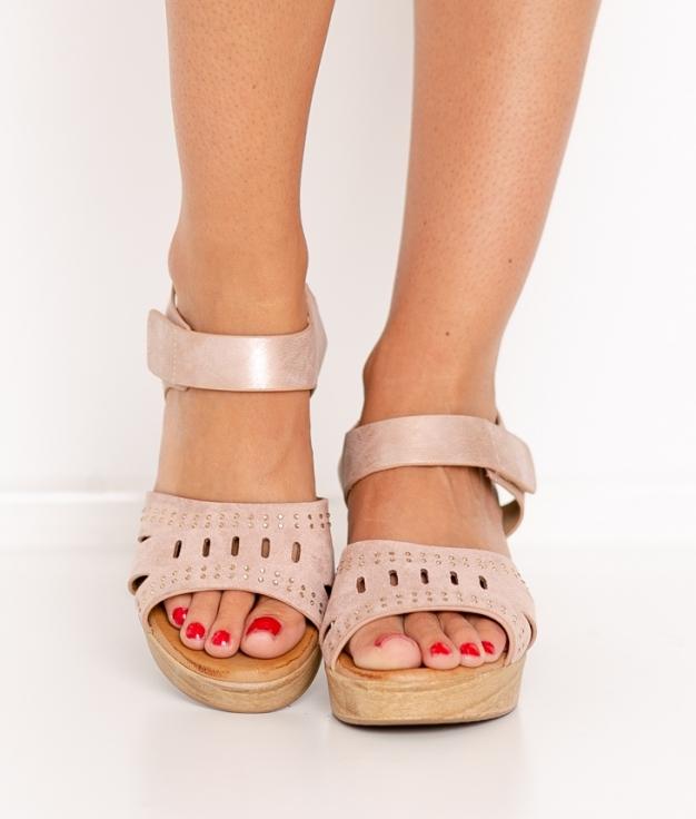 Sandalia de Tacón Sali - Rosa