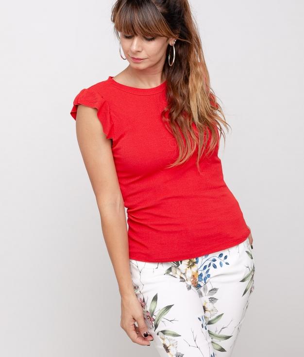 Camiseta Luz - Rojo