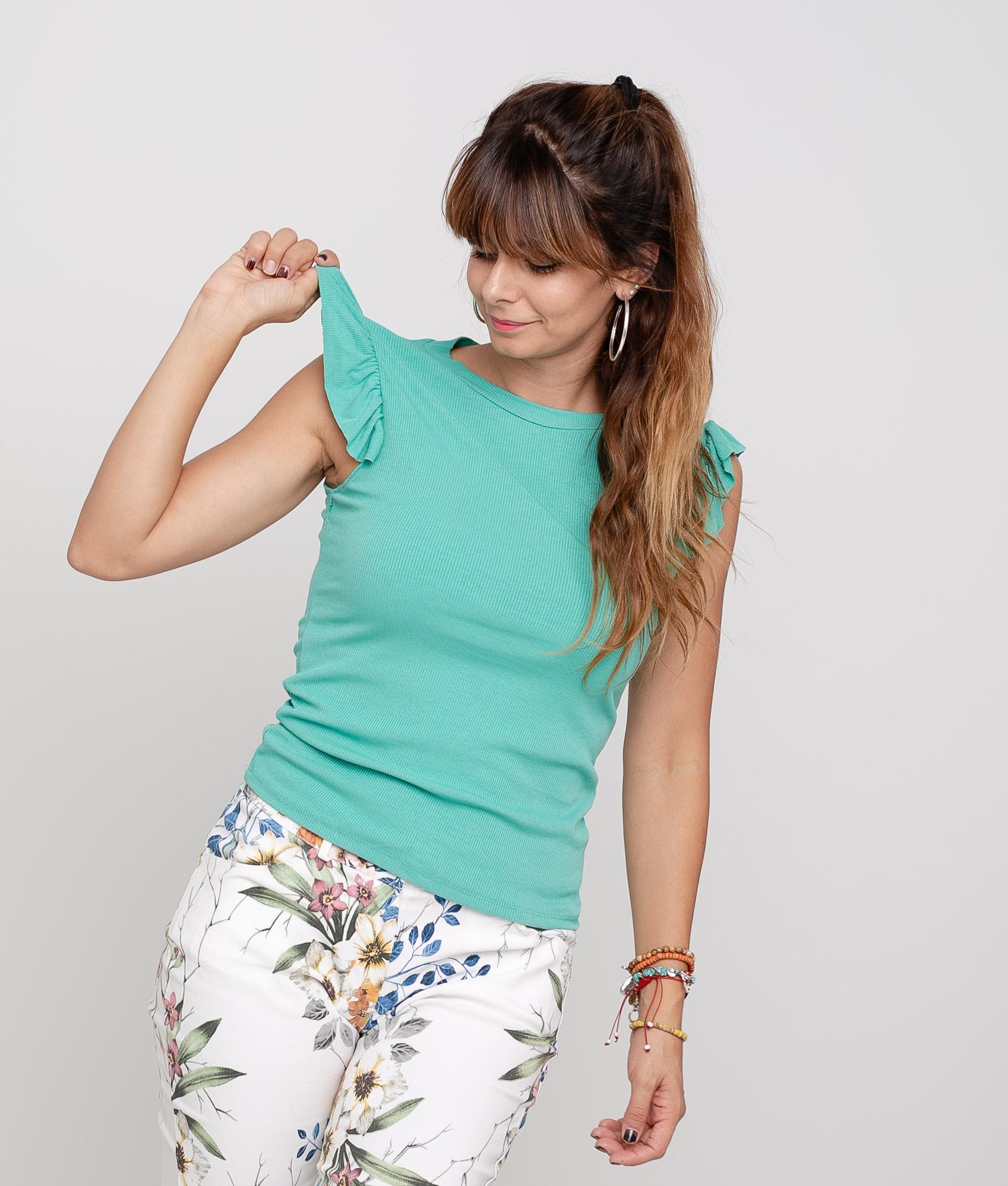 Camiseta Luz - Aguamarina