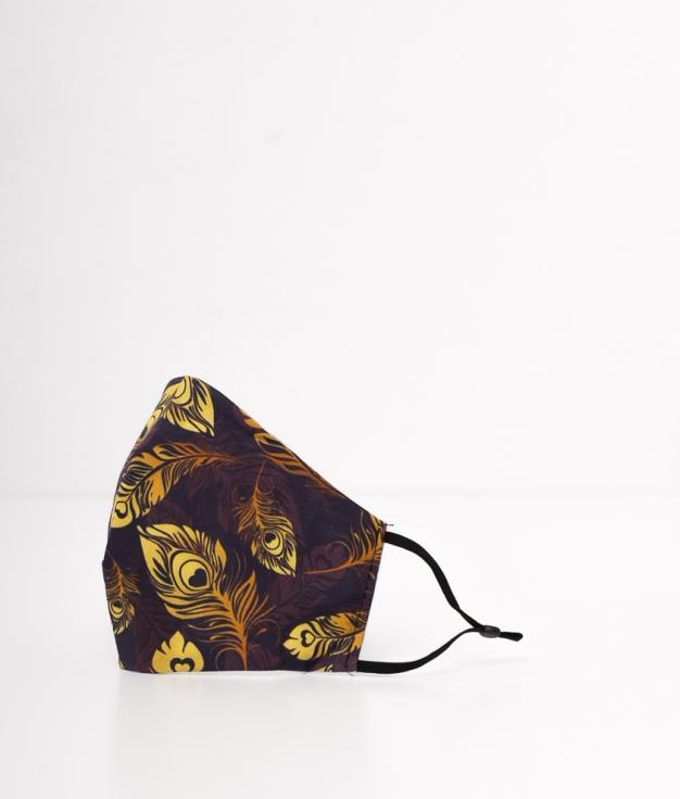 Mascarilla Plumas - Amarilla