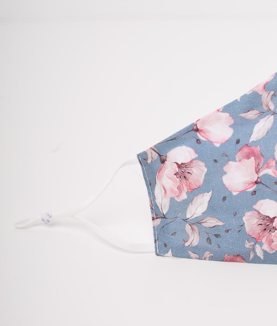 Mascarilla Flores - Rosa