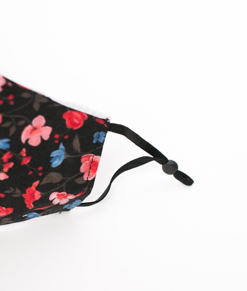 Mascarilla Flores - Rojo/Rosa