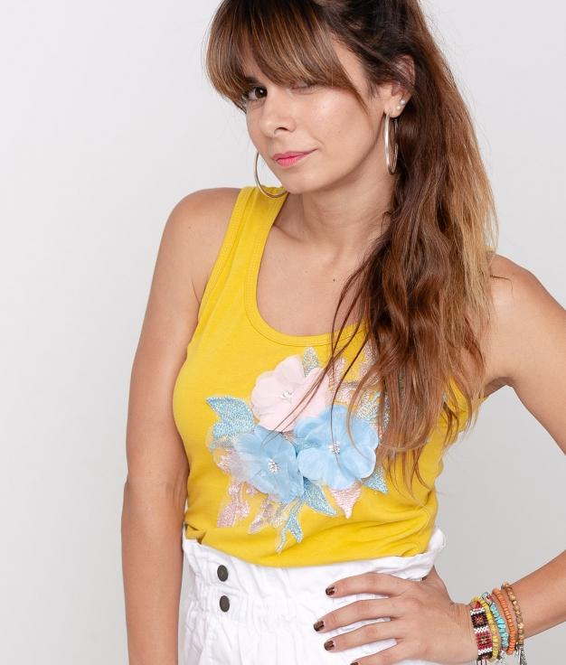 Camiseta Tuner - Amarillo
