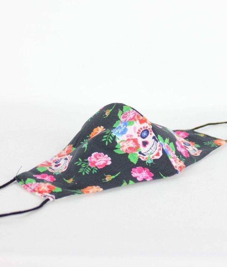 Mascara Angela - Caveira Flor