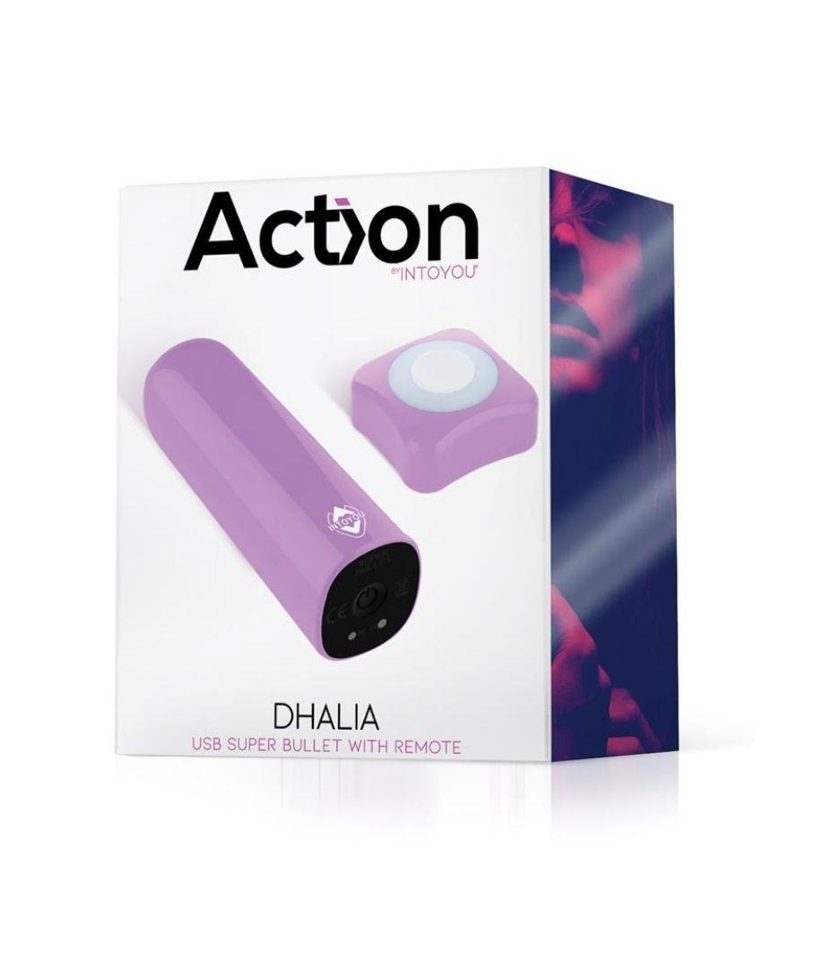 Action Dhalia Súper bala vibradora con control remoto - Púrpura