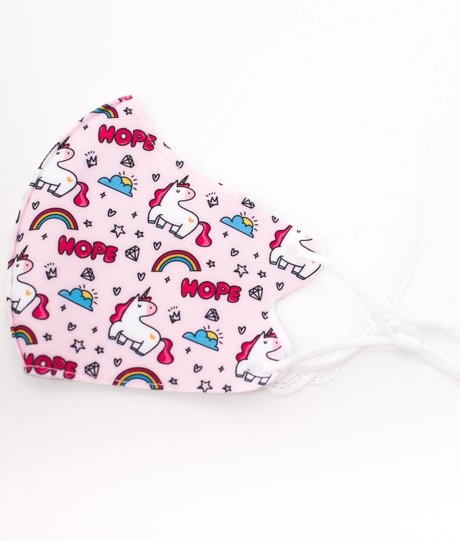 Mascarilla Unicornos - Rosa