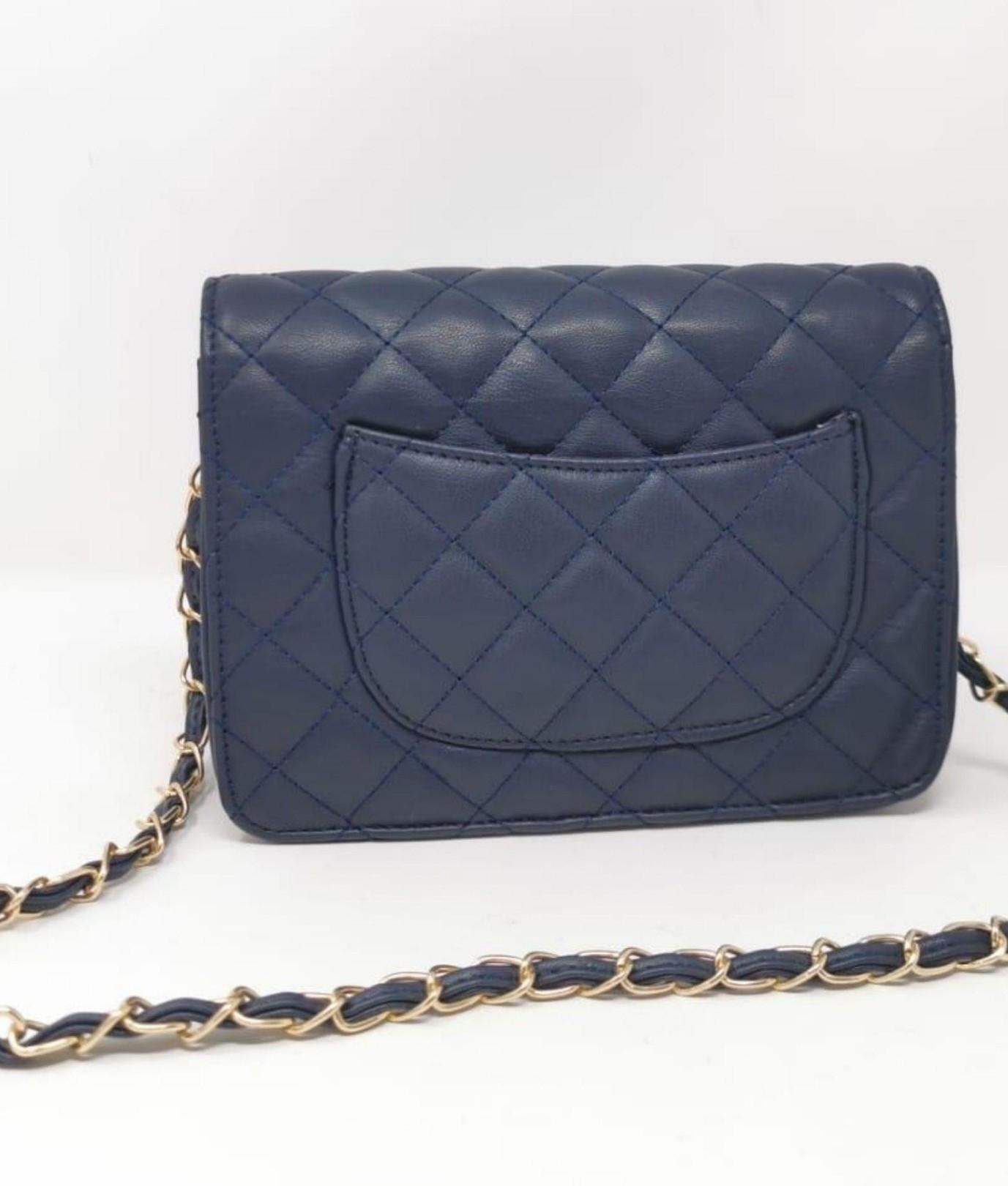 Ainy bolsa de ombro - azul marinho
