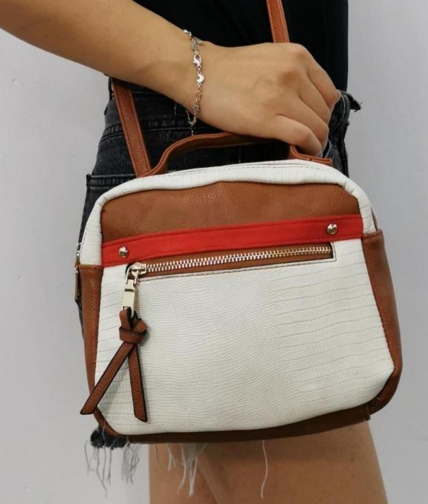 Alessia- Camel shoulder bag