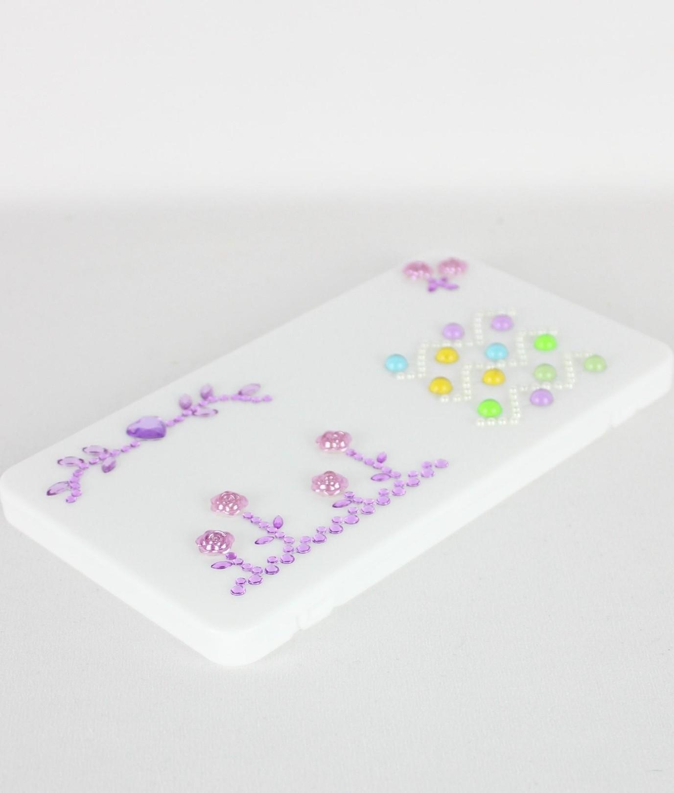Mask Holder Fashion - Flower Lila