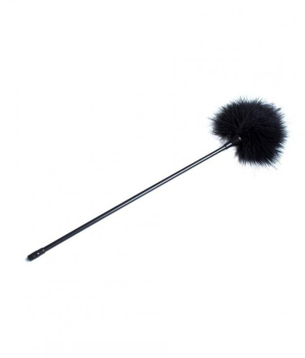 Plumas estimuladoras Fetish Addict 40 cm - Negro