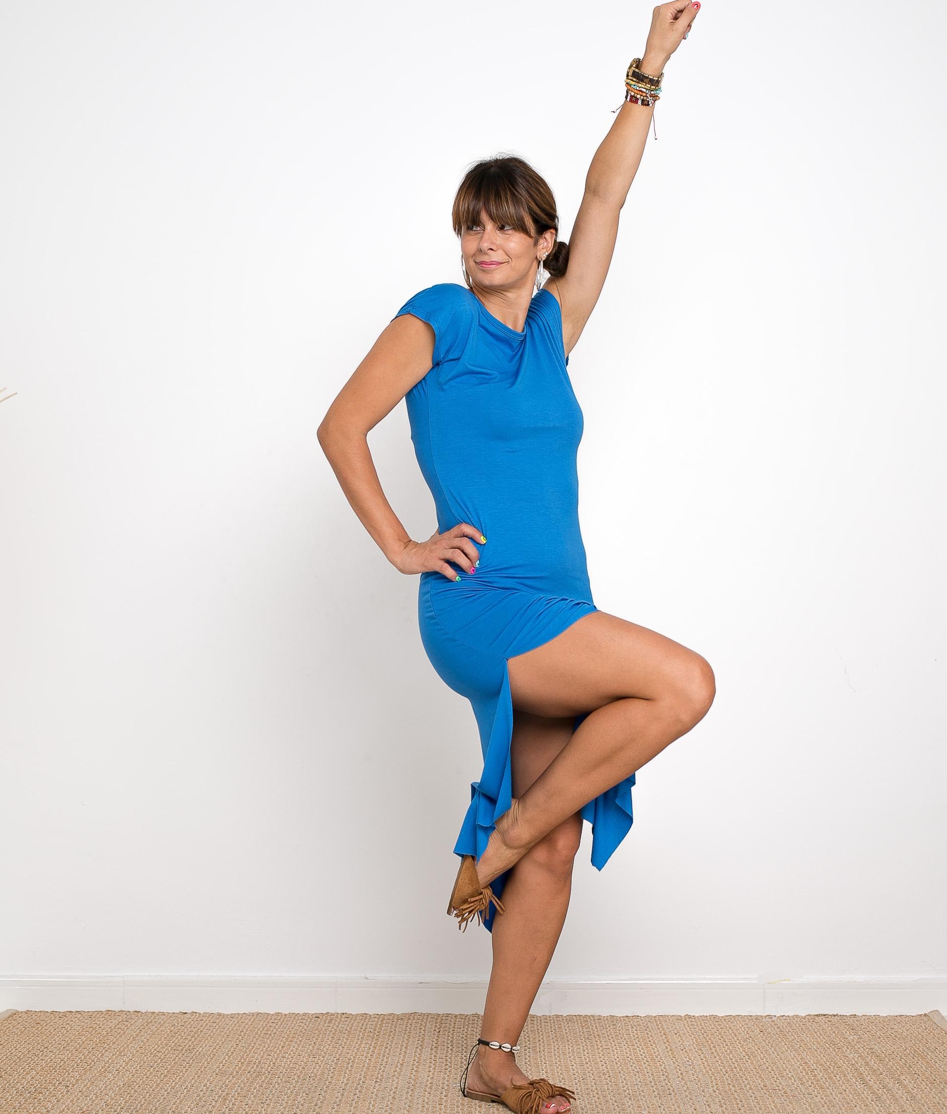 Vestido Llanes - Liso Azul Klein