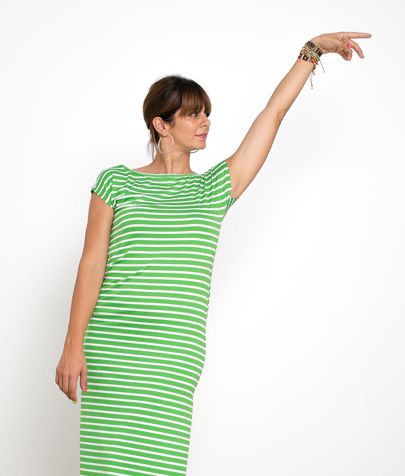 Vestido Llanes - Rayas Verde
