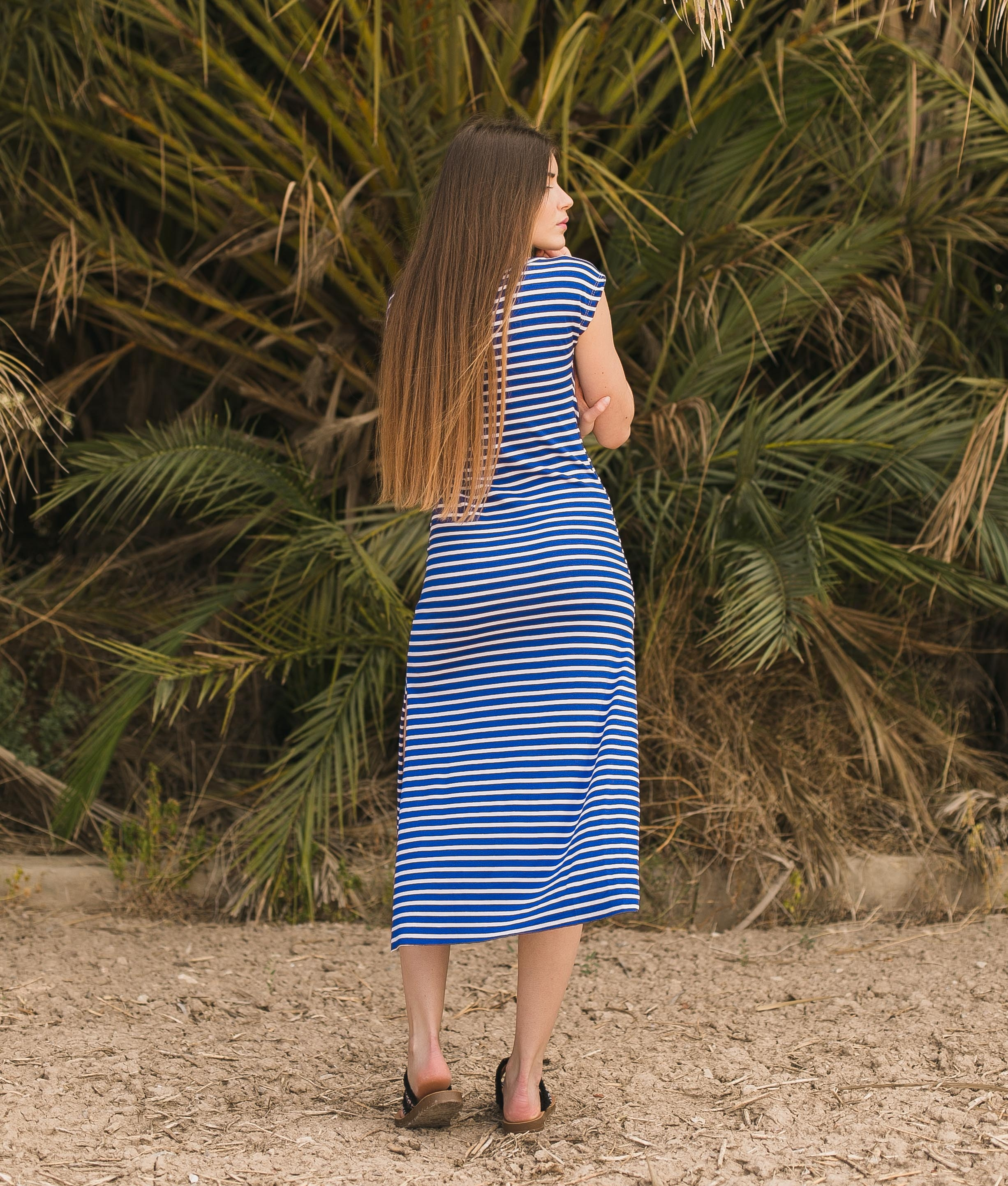 Dress Llanes - Black Stripes