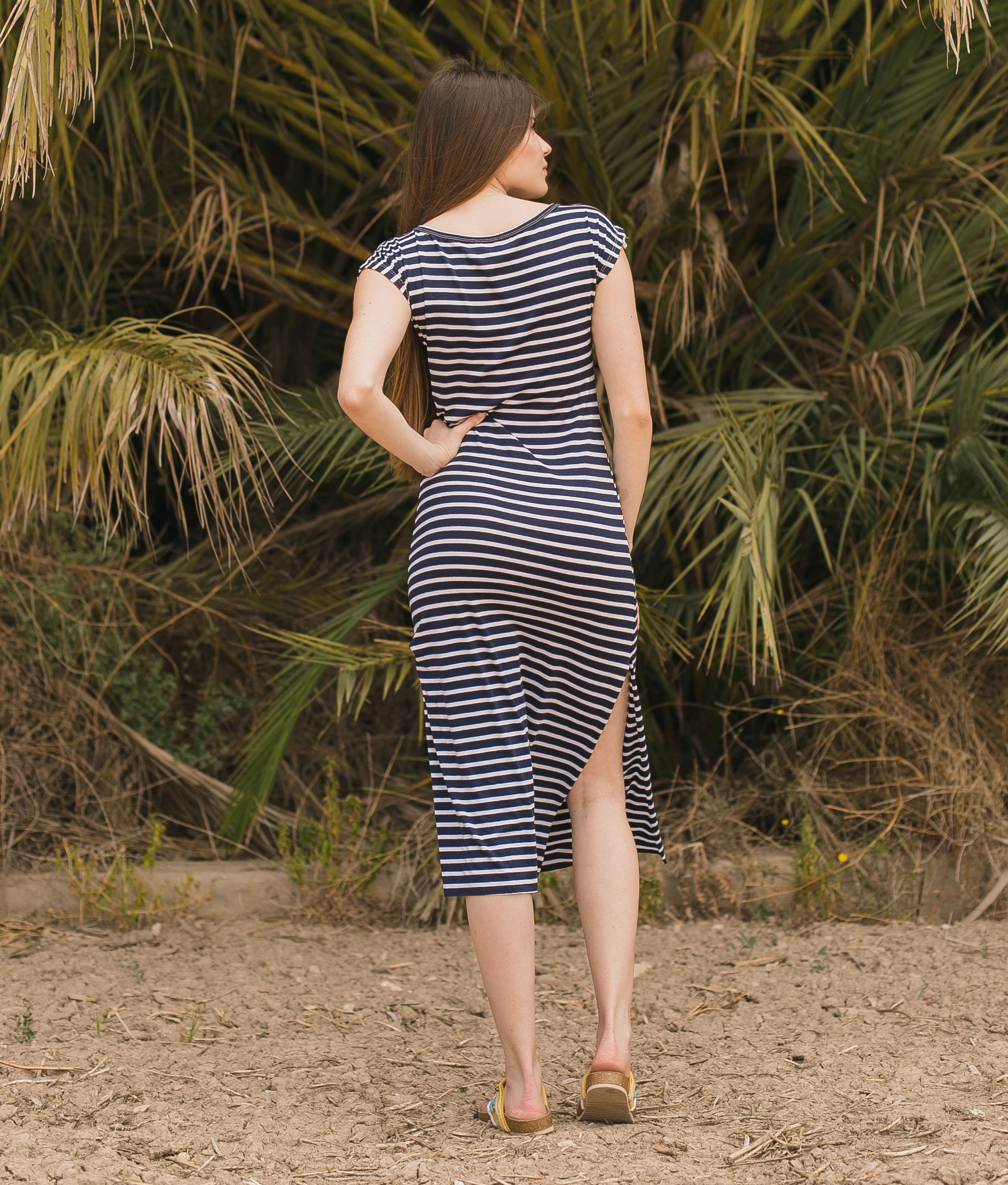 Dress Llanes - Black Stripes