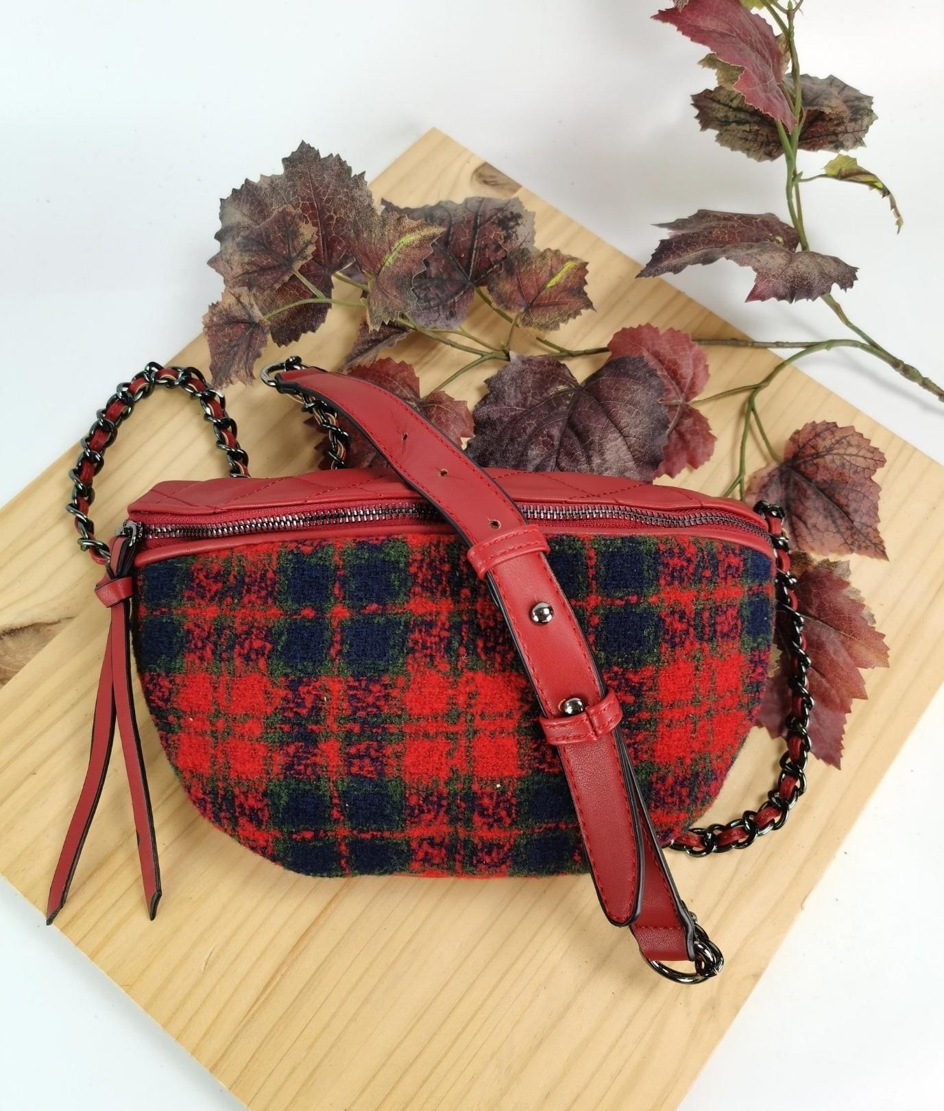Alessia belt bag - red