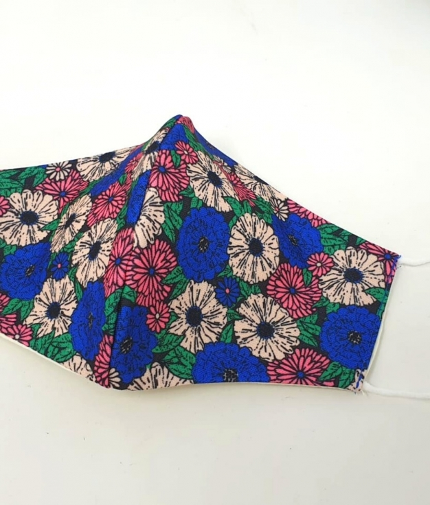 CHEMIA FABRIC MASK - BEGE FLOWERS
