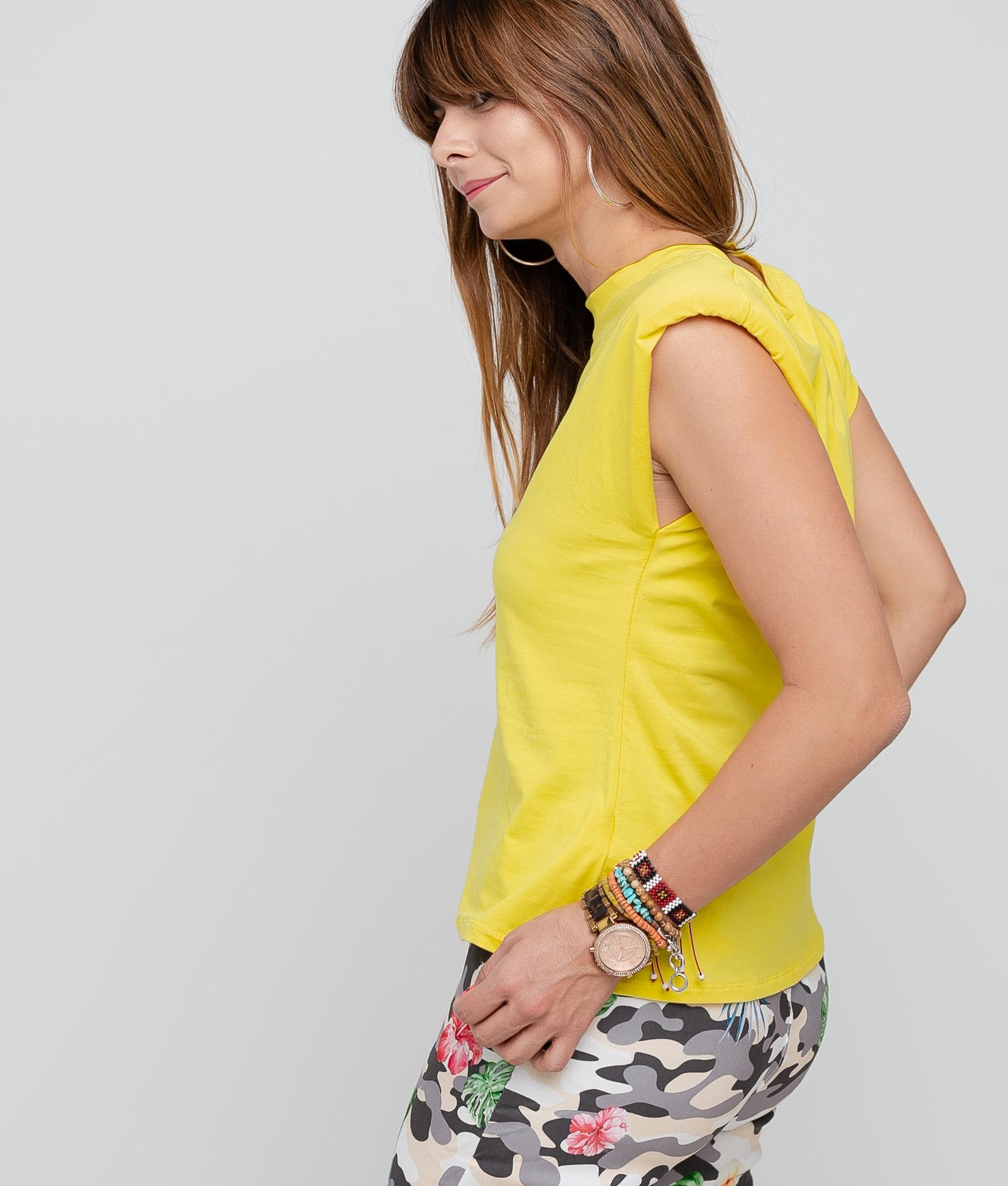 T-Shirt California Shoulder Pads - Yellow