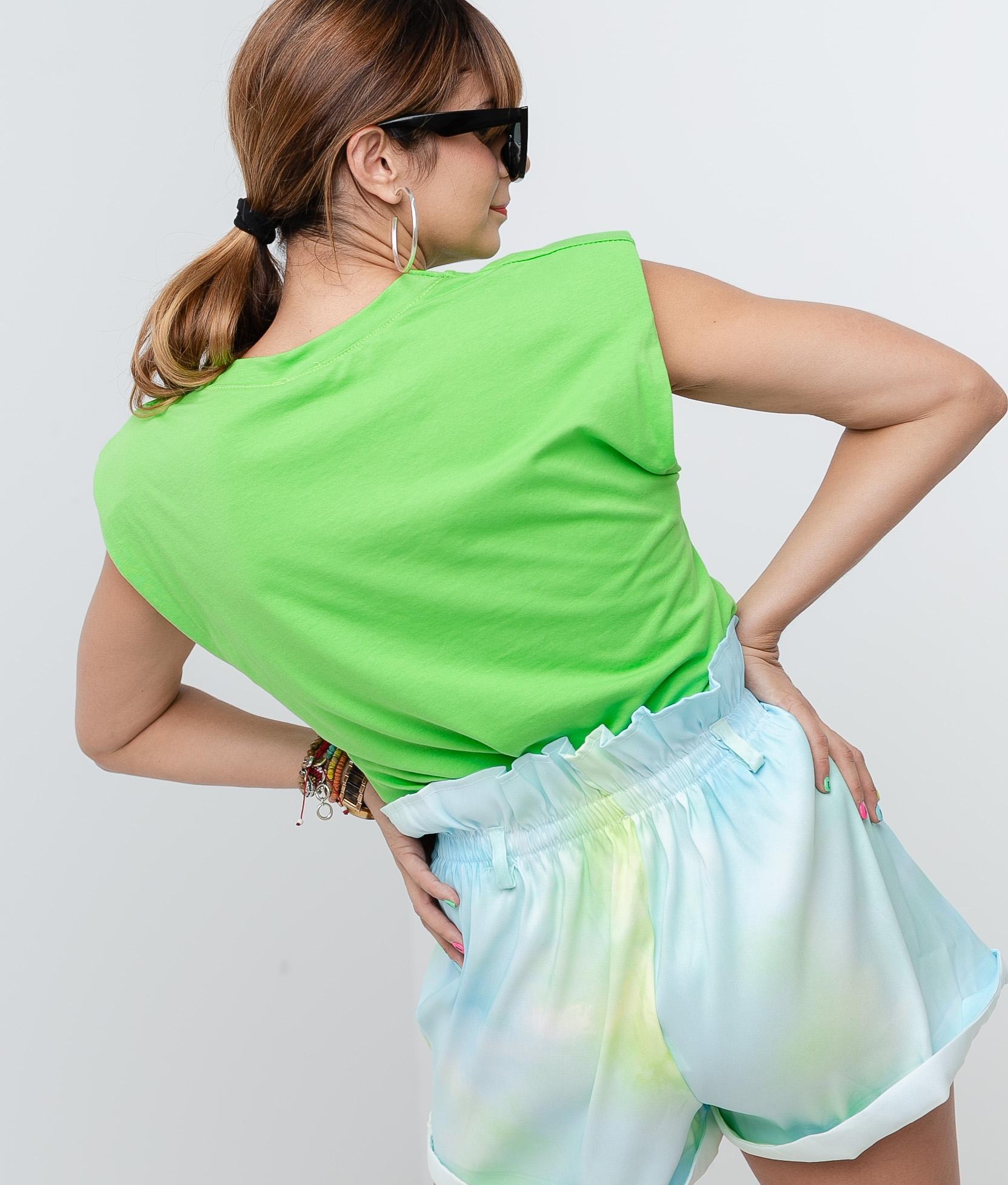 Camicia California Spalline - Verde fluo