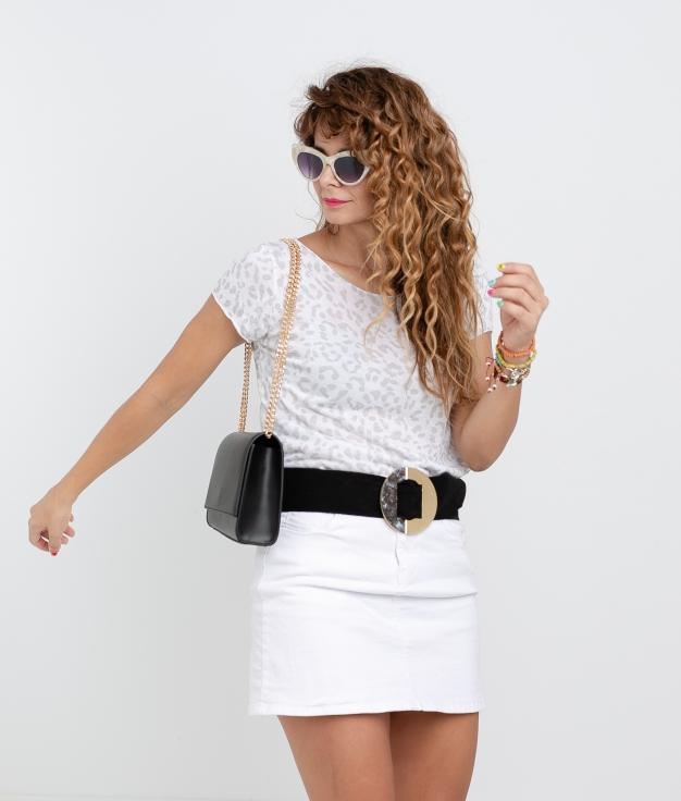 Camiseta Afra - Blanc