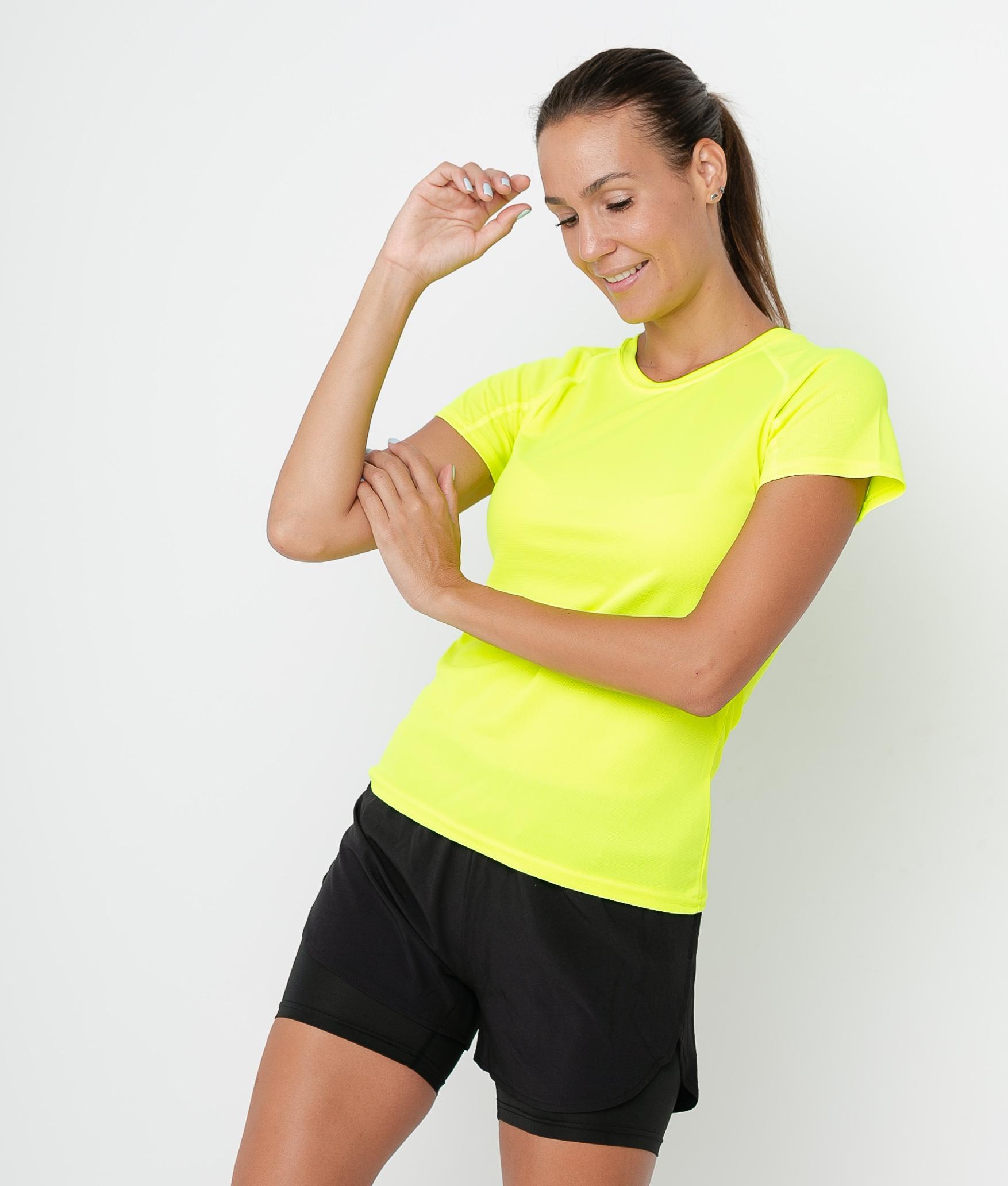 T-shirt Mita - Yellow Fluorine