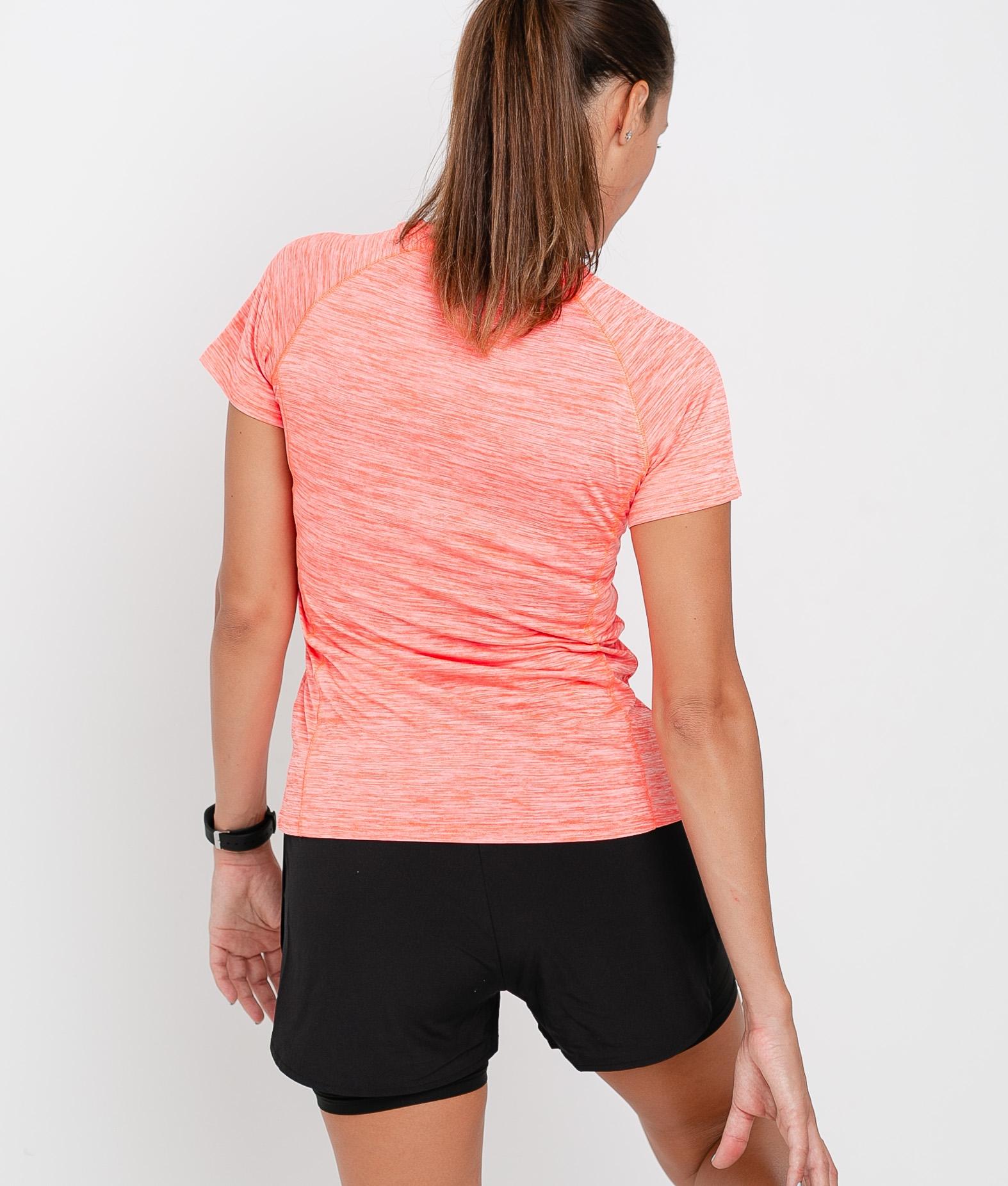 Camiseta Leira - Coral Fluorina