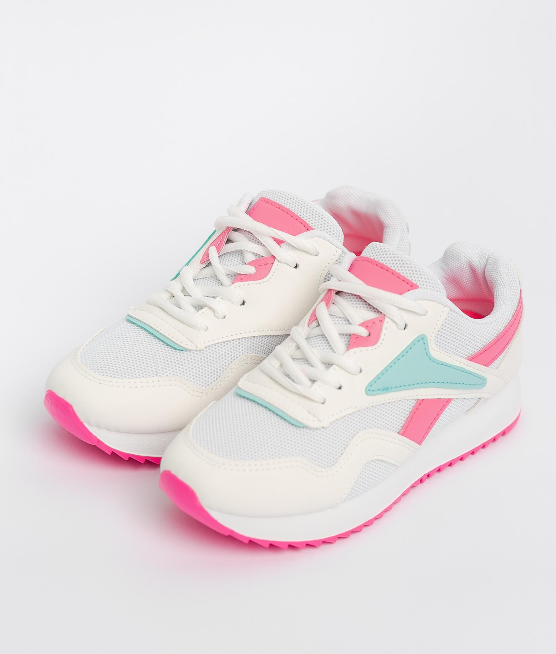 Sneakers Rame - Branco/Fúcsia