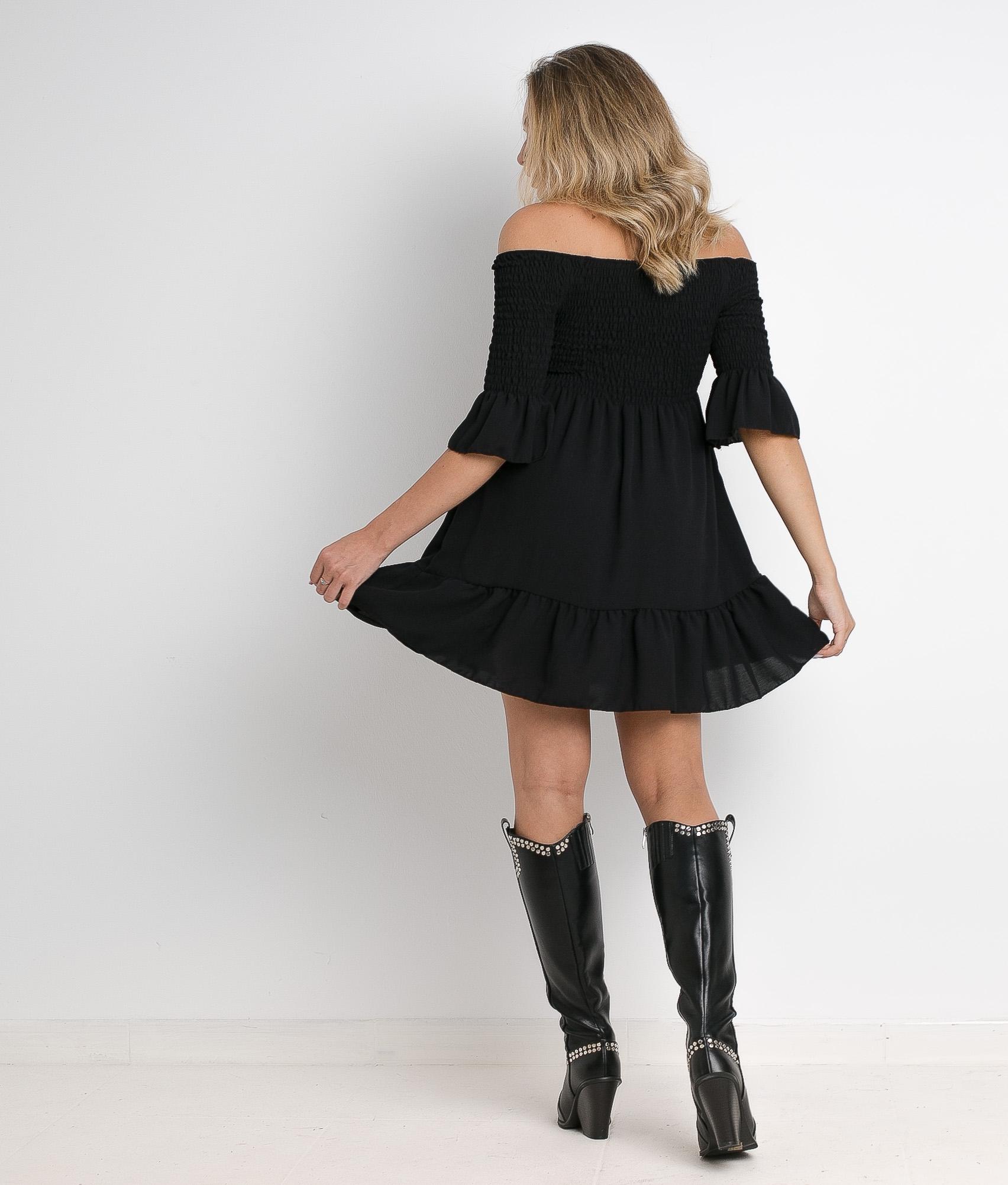 AKIKO DRESS - BLACK