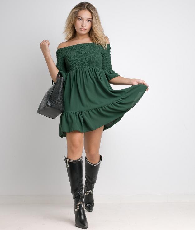 AKIKO DRESS - GREEN