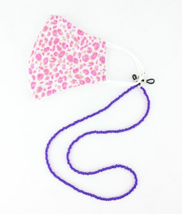 Mask Pendant Cuna - Purple