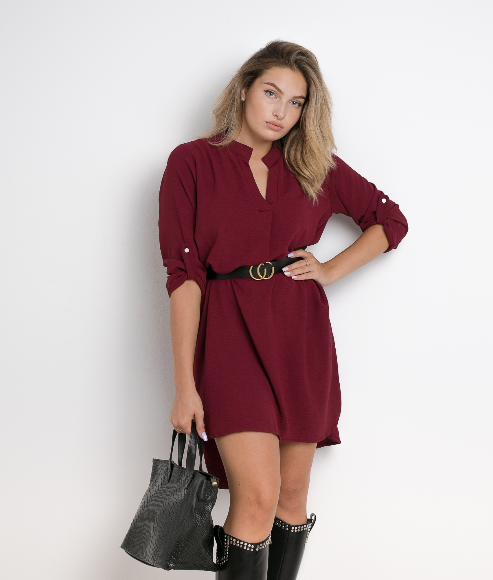 KURIA DRESS - MAROON