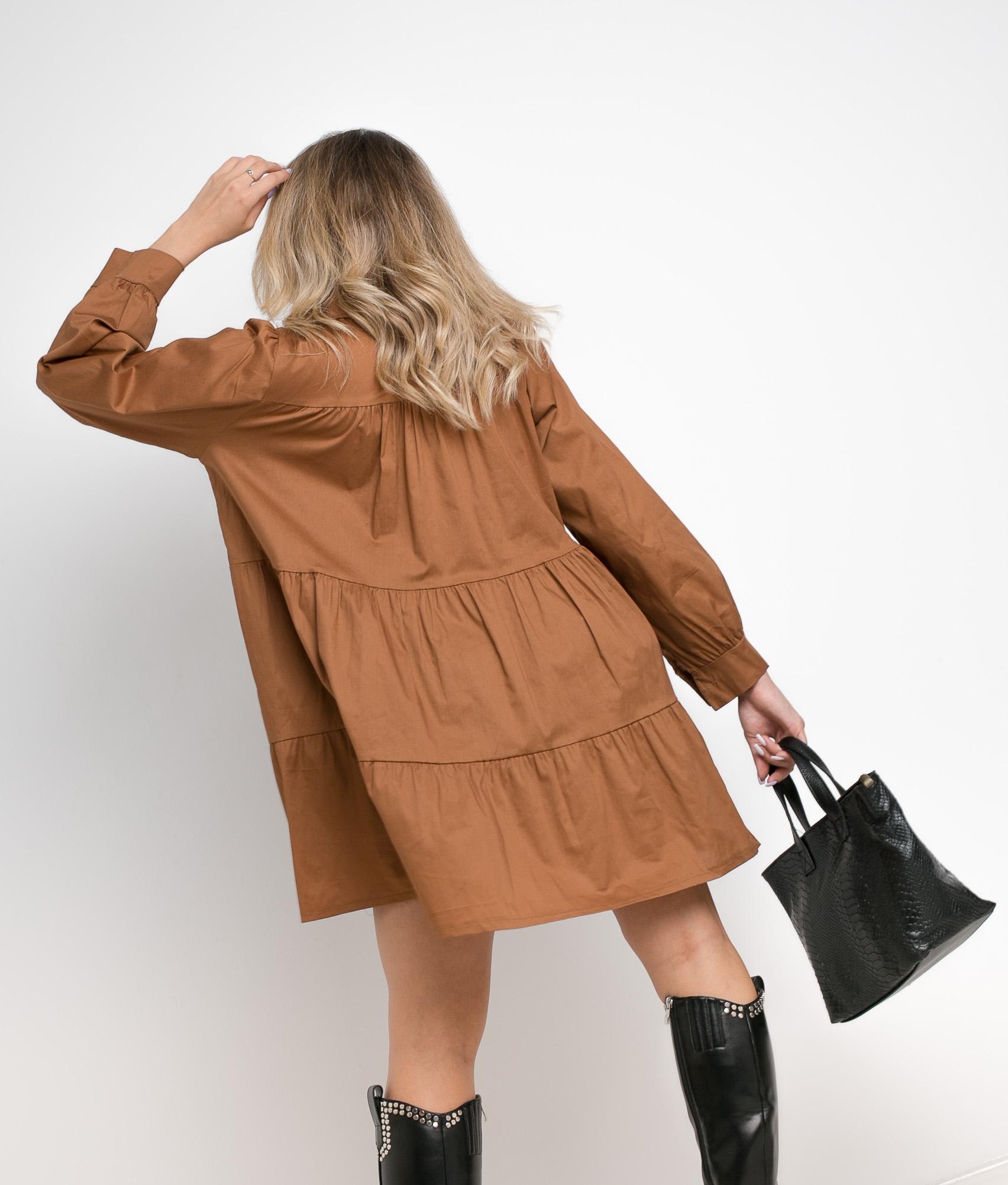 ARCONA DRESS - CAMEL