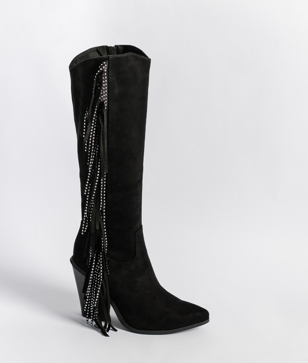 Knee-Length Boot - Black