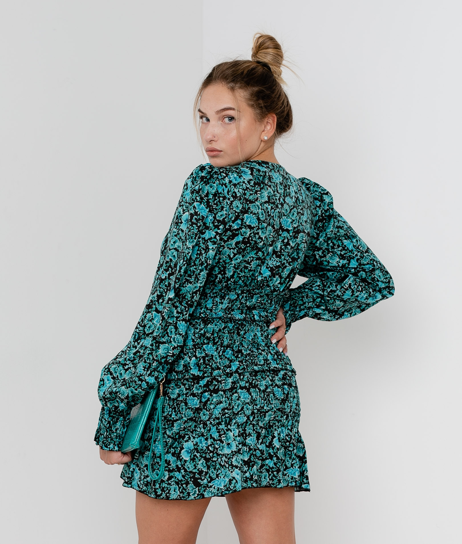 Dress Gosto - Turquoise