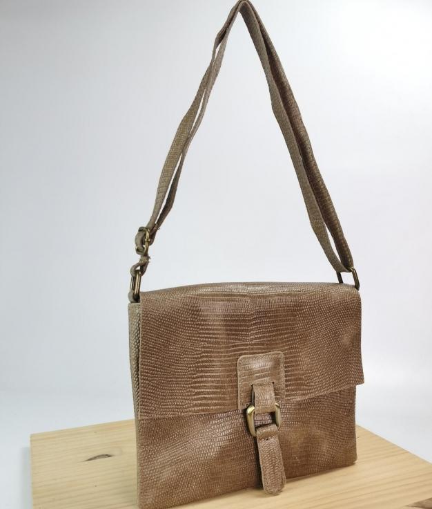 Amanda leather shoulder bag - brown