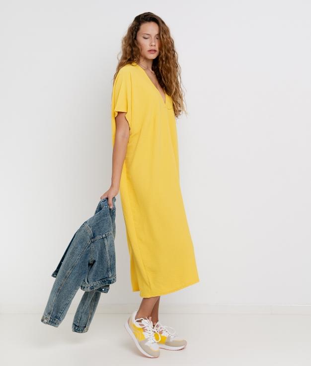 Vestido Luba - Jaune