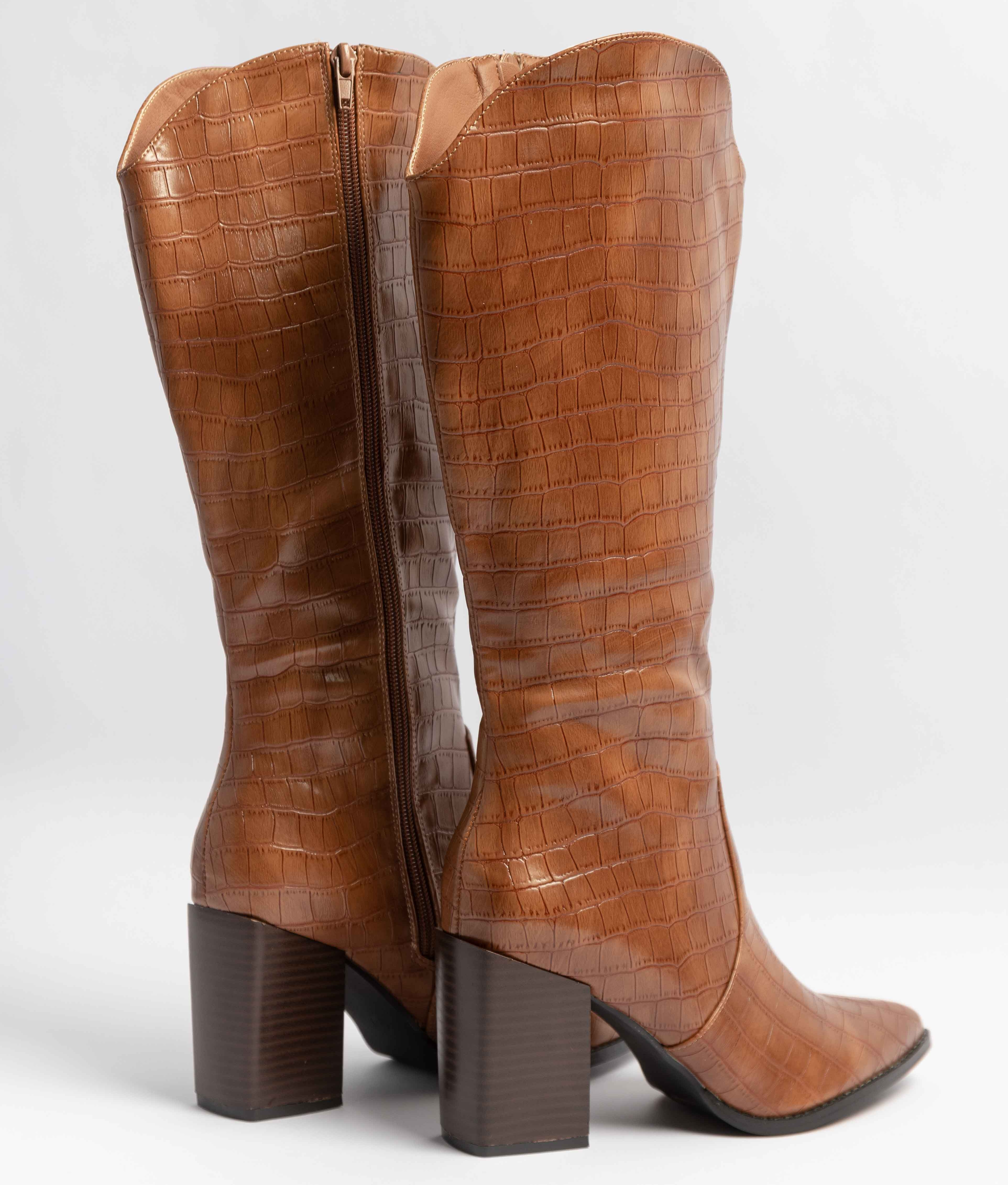 Knee-Lenght Boot Drila - Camel