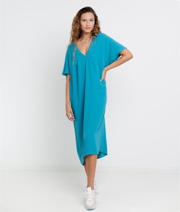 Vestido Luba - Bleu
