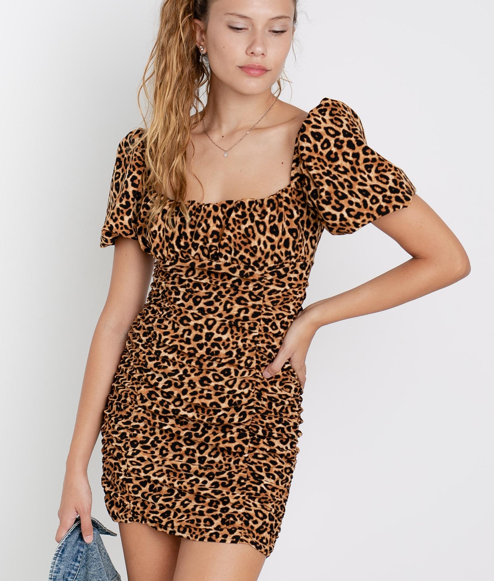 Vestido Macor - Leopardo