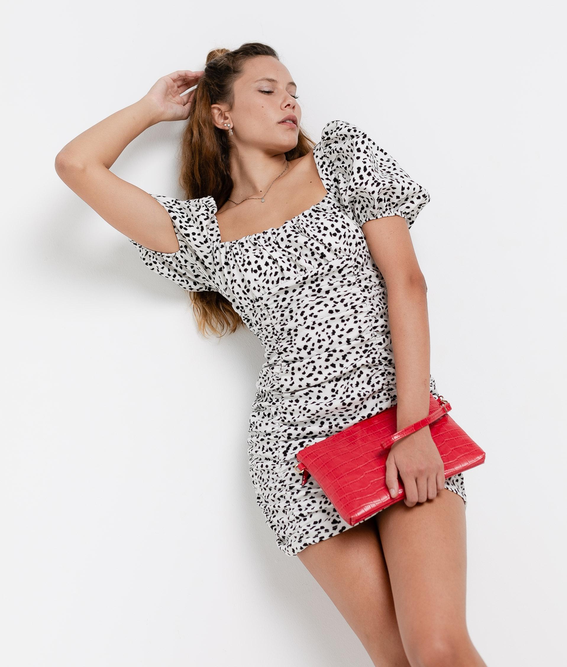 Dress Macor - White/Black