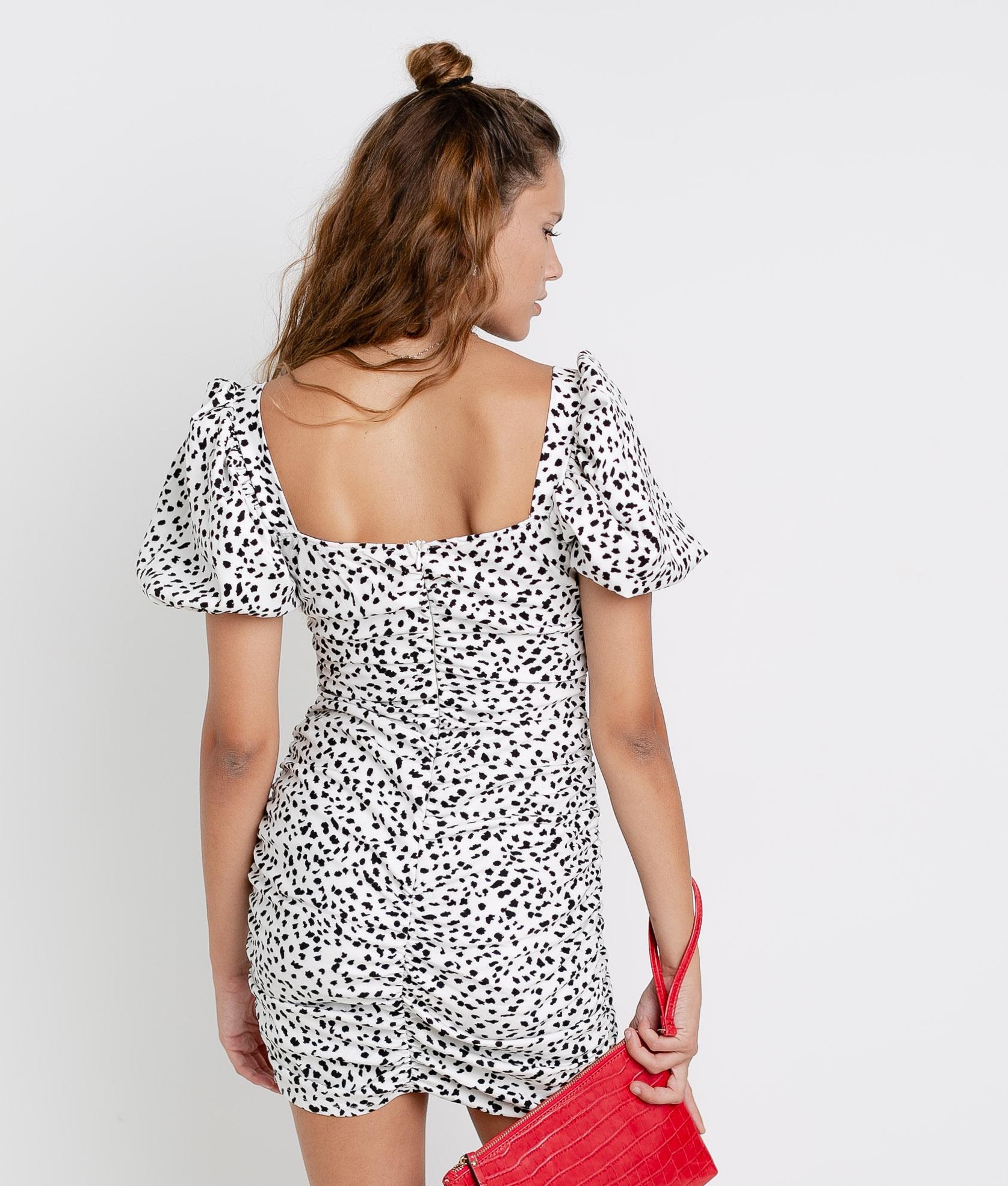 Vestido Macor - Blanco/Negro