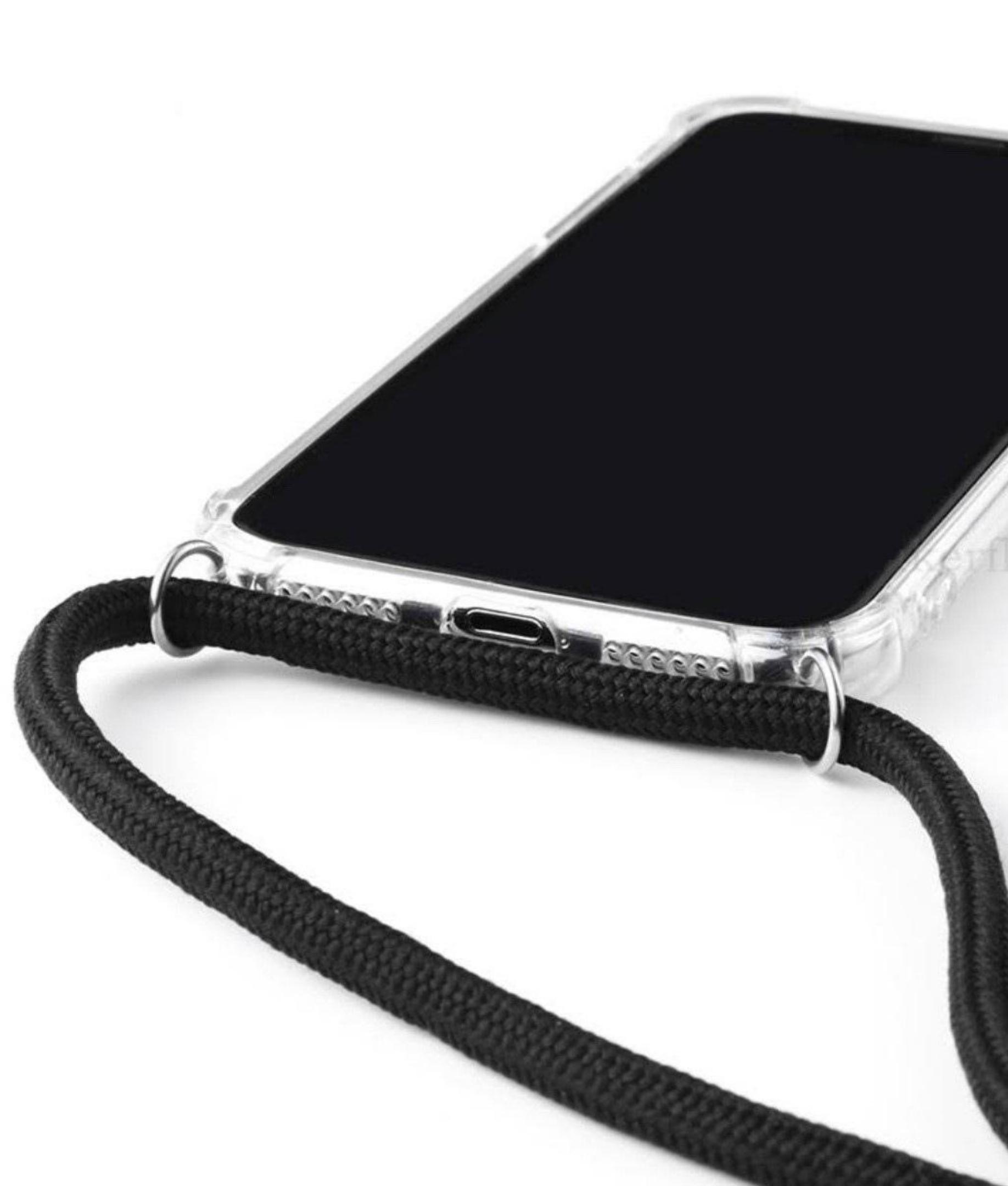 Cas de Iphone 11 de Cordon - Noir