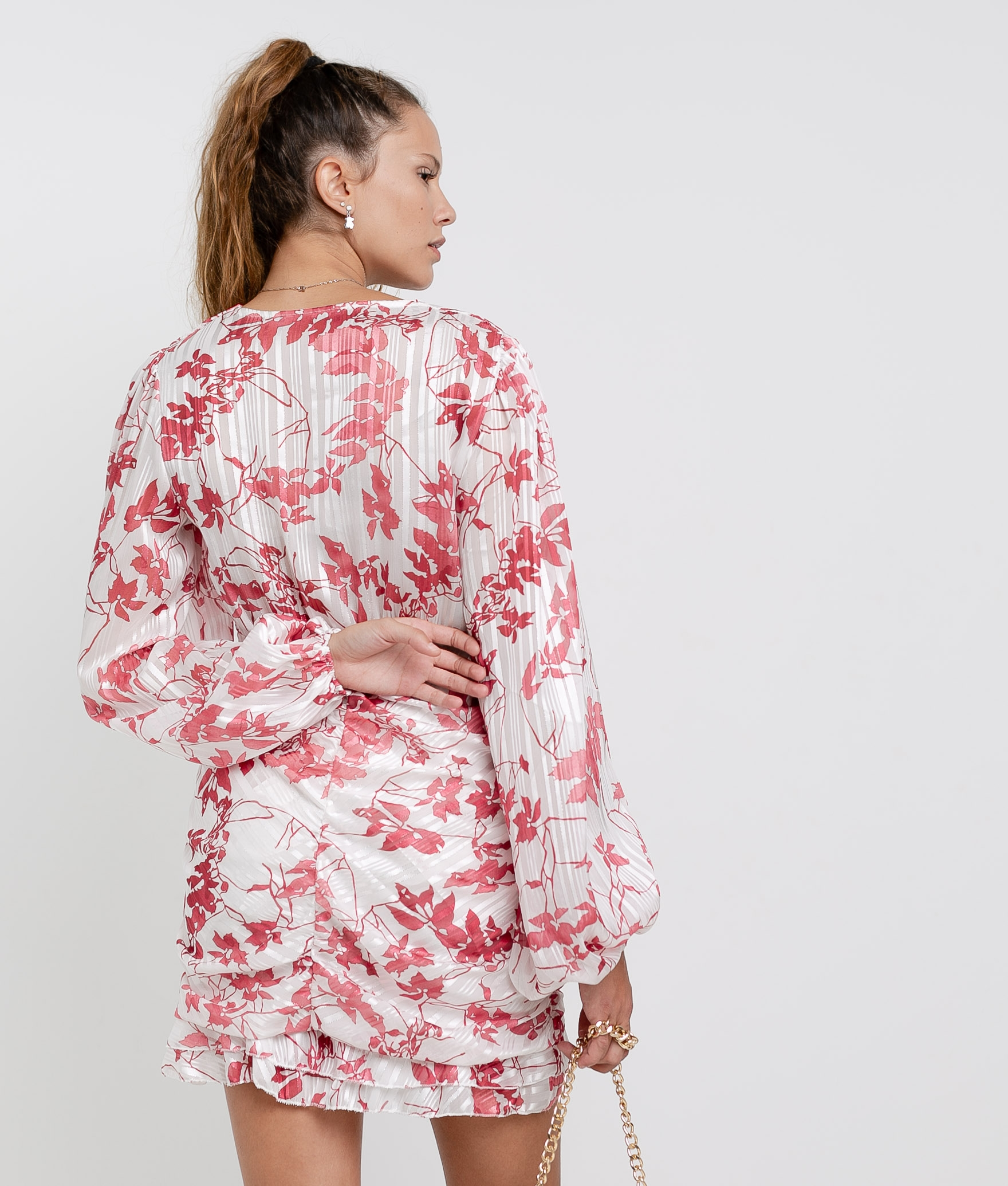 Vestido Ponge - Blanco