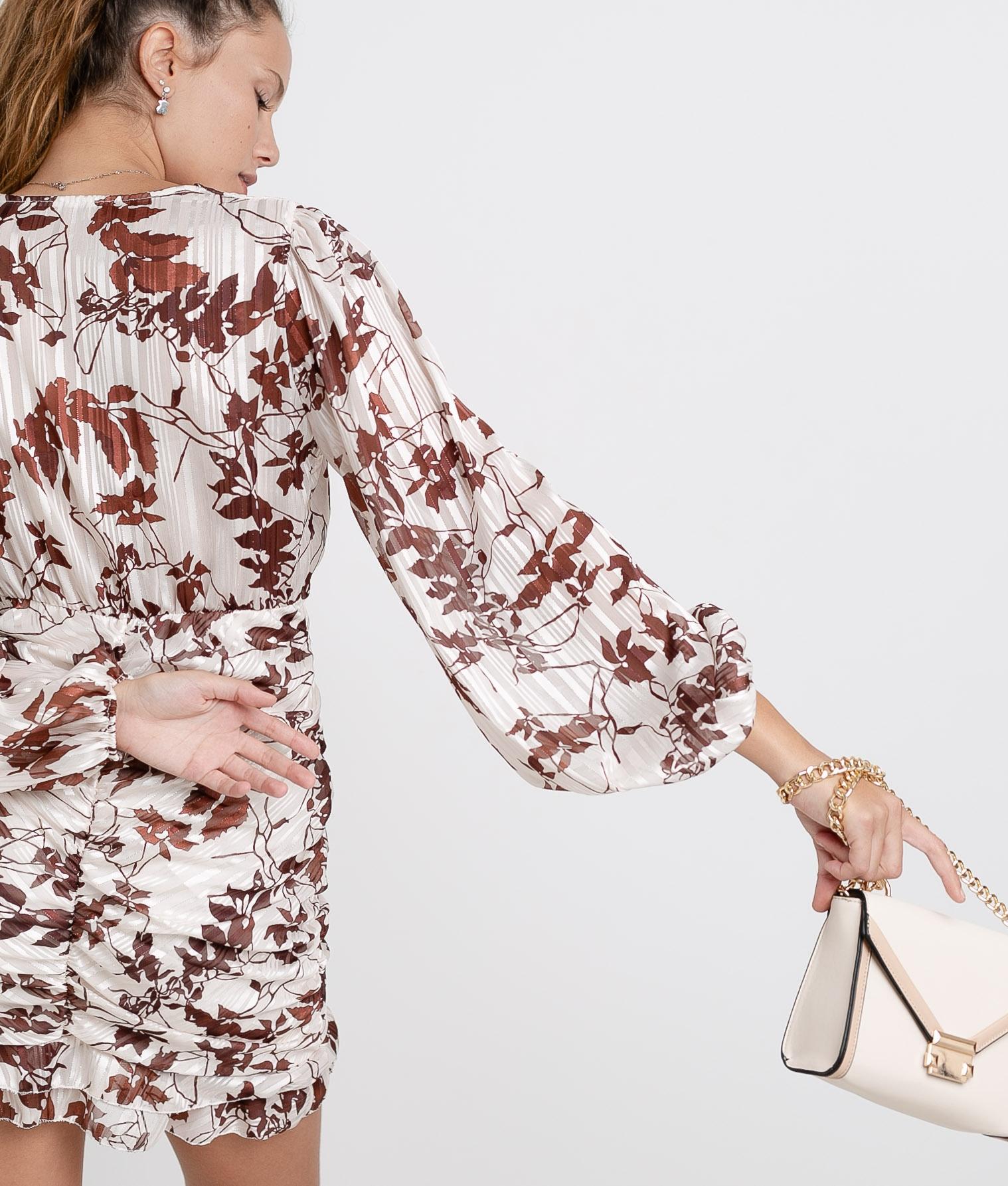 Vestido Ponge - Marrom