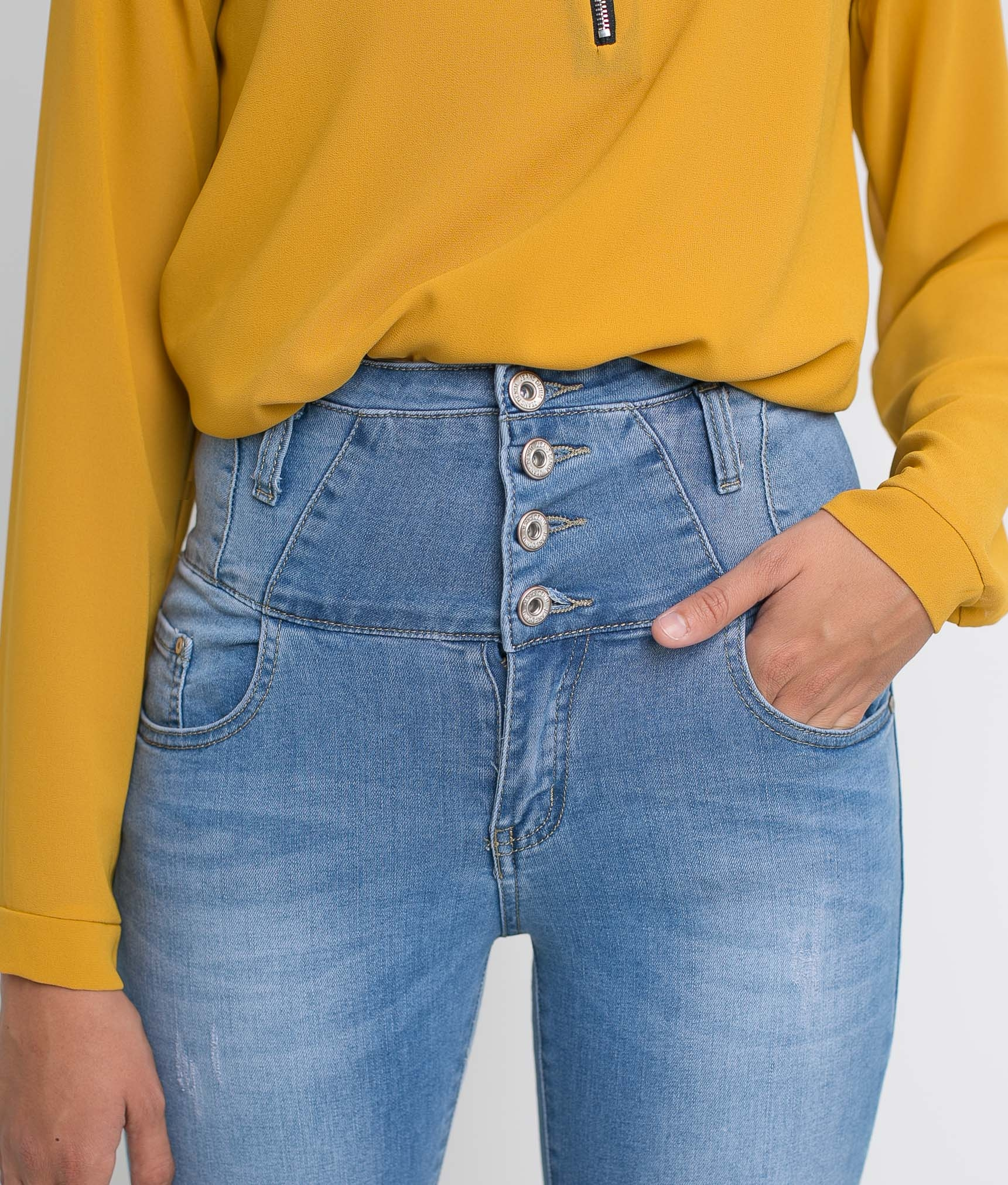 Pantaloni Temet - Denim Chiaro